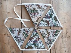 Quirky 'Edward' Bunting / Banner / Floral by annasbluebellblue Bunting Banner, Banners, Etsy Handmade, Handmade Gifts, Floral Fabric, Vintage Gifts, Small Businesses, Photo Props, Garland