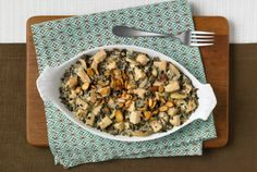 Turkey Wild Rice Casserole. Use non fat cream