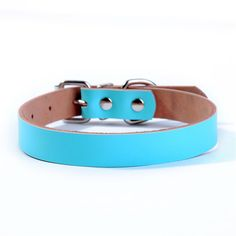 Puppy-league® Genuine Leather Solid Color Durable Safe Pet Dog Collars for Puppy Chihuahua *** Check out the image by visiting the link.