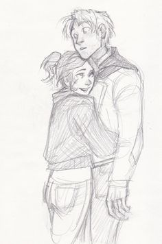 Sketch drawing couple girl boy cute