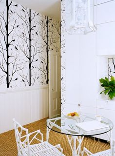 We offer a variety of modern wallpaper designs, including floral, geometric, and textured wallpaper. Find new modern wallpaper ideas at Covered Wallpaper. Cover Wallpaper, Tree Wallpaper, Nature Wallpaper, Wallpaper Doodle, Wallpaper Ideas, Modern Wallpaper Designs, Designer Wallpaper, Geometric Wallpaper, Sweet Home