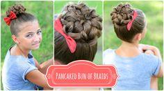 Pancaked Bun of Braids | Updo Hairstyles