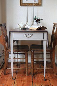 Restored Vintage Drop Leaf Table on Castors with by ArthurandEde