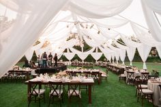 There are wedding tents and then there are stunning masterpieces of drapery under which the prettiest al fresco weddings occur. This Ojai affair photographed by Michael Costa most certainly falls . Tent Wedding, Wedding Bells, Wedding Events, Dream Wedding, Wedding Dress, Marquee Wedding, Wedding Reception, Weddings, Fresco