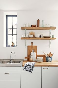 Kitchen Shelves At 10 Favorites Rustic Open Shelving In The Kitchen Remodelista