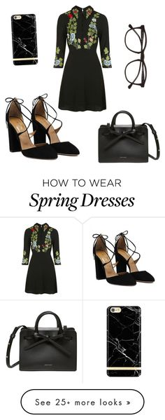 """""""Total black#2"""" by alexandrakorzova on Polyvore featuring Topshop, Illesteva and Richmond & Finch"""
