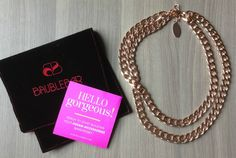 POPSUGAR Must Have Review - July 2013 | My Subscription Addiction. BaubleBar Rose Double Curb Chain Necklace. A little bulky - but definite weight!