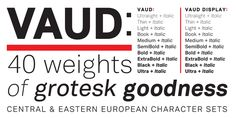 Vaud - Grotesk Font Family of 40 Weights by Wordshape