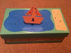 Just a simple shoe box with paper/card/ funky foam stuck to the top/ sides to create song environments: Pond, log, wall. Each song has a lam. Preschool Boards, Circle Time Activities, Simple Shoes, Music Therapy, Ocean Art, Shoe Box, Literacy, Online Business, Art Projects
