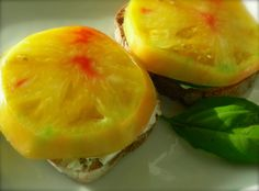 A Frenchtown Kitchen: Pineapple Tomato Tartine with Cucumbers, Cream Cheese and Chives