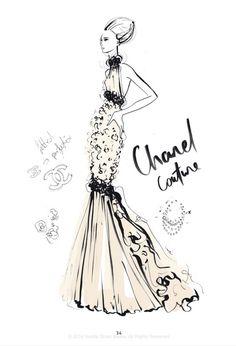 """""""The Dress"""" - 100 najpiękniejszych sukienek na ilustracjach Megan Hess, fot.rizzoliusa.com"""