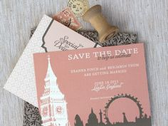 Save the Date for London wedding