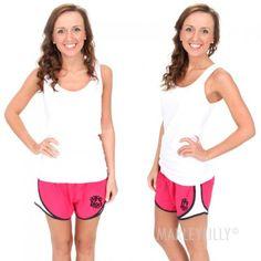 Monogrammed Running Shorts   MARLEYLILLY