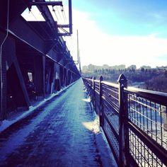 High Level Bridge in Edmonton, Alberta, Canada during winter