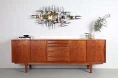 IMPRESSIVE DYRLUND TEAK SIDEBOARD / Mr. Bigglesworthy - Mid Century Modern and Designer Retro Furniture