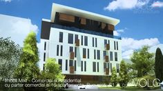 Proiecte Comerciale   Imobil Mixt - cu parter comercial si 16 apartament... Cube, Multi Story Building, Architecture, Videos, Arquitetura, Architecture Design