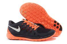 9de99a399bc0 Ny Nike Free 5.0 Sølv Sort Orange Running Sko med stor rabat! Må ikke glip