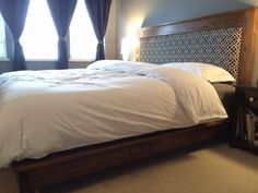King size platform bed and headboard | Do It Yourself Home Projects from Ana White