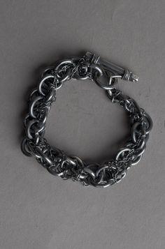 CHIN TEO   Wrap Silver Bracelet.