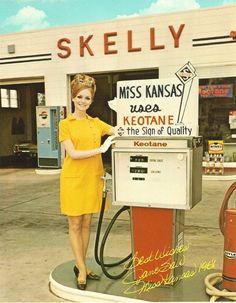 Miss Kansas - 1968 - Old Gas Station Sign #vintage #retro