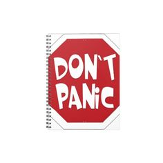 Don't Panic Spiral Note Book