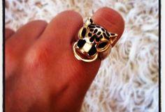 Joyas-Bisutería Marrón suave  anillo leopardo negro Dorado oro   primark , Primavera-Verano 2012. En el armario de lady_amazona desde el 22-9-2012