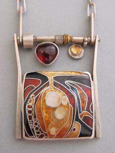 Anna Carlton Metals, Santa Fe New Mexico: New camera fun. Enamel Jewelry, Metal Jewelry, Silver Jewelry, Jewelry Crafts, Jewelry Art, Jewelry Design, Contemporary Jewellery, Modern Jewelry, Artisan Jewelry