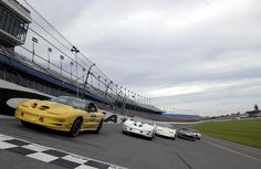 Pontiac Firebird Trans Am Special Editions:  2002 Collector Edition Trans Am Daytona Pace Car, 1999 Trans Am 30th Anniversary Convertible, 1989 Turbo Trans Am Indy Pace Car, 1980 Indy Pace Car and 1969 Trans Am by coconv, via Flickr