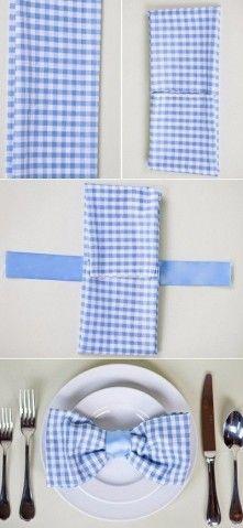 10 оригинальных способов сложить салфетку для праздничного стола