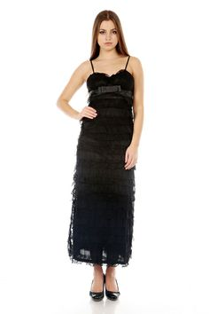 Bow Front Lace Maxi Dress @ Everything5pounds.com