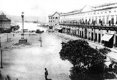 Cais do Valongo, Saúde, em 1904. A região do Cais do Valongo, a partir de 1774, tornou-se o ponto de desembarque de escravos negros na cidade, substituindo a Praça XV. Foto: Augusto Malta. Retirado do Grupo Rio Antigo.