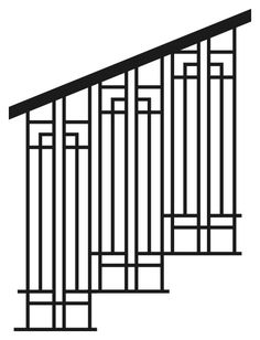 MP Note: Arts & Crafts style railing idea - we could do the hand rail in stained wood. Cast Iron Railings For Stairs and Decks - Nature´s Right Hand Cast Iron Railings, Wrought Iron Stair Railing, Stair Railing Design, Metal Railings, Staircase Railings, Modern Staircase, Hand Railing, Railing Ideas, Banisters