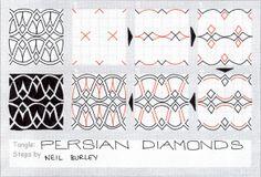 Persian Diamonds - tangle pattern