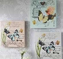 3D Carte Postale Butterfly Plaques - Set of 3 NEW NEW NEW