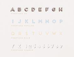 Frontage Typeface +freefont by Juri Zaech, via Behance