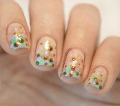 NAILS WORLD: GRADIENT POLKA DOT NAILS  #nailart #nail #nails #nailpolish #mani #manicure
