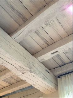 Wood beams, whitewashed