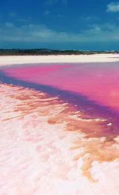 Admire the Pink Hues of Laguna Salada de Torrevieja in Spain (if they're really this shade of pink)