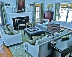 Traditional Family Room Double Parlor Spaces Design, Pictures, Remodel, Decor and Ideas - page 3