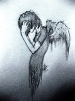 falling apart by ~NightpeltAtDawn on deviantART Emo Cartoons, I Dont Matter, Emo Art, Falling Apart, You Are Beautiful, Separate, This Is Us, Twins, Goth