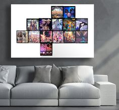 Contact Sheet Art Tropicolor Jagged 120 Film Ultra PlexiFoto in Living Room Contact Sheet, 120 Film, Photo Art, Living Room, Frame, Wall, Party, Home Decor, Picture Frame
