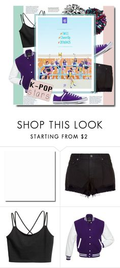 """""""Twice - Kpop Angles"""" by kts-desilva ❤ liked on Polyvore featuring rag & bone, Converse, kpop, super, twice and rockies"""