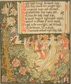 1896 - Walter Crane, Penned and Portrayed, - Queen Summer. The tourney of the Lily & the Rose 40 Walter Crane, Witch Art, Beltane, Japanese Prints, Arts And Crafts Movement, Classic Books, Children's Book Illustration, Faeries, Childrens Books