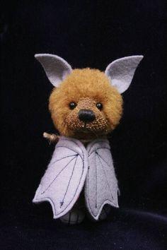 Orell die Fledermaus OOAK von Stofftierfabrik auf Etsy https://www.etsy.com/de/listing/544065575/orell-die-fledermaus-ooak