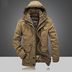 78.32$  Watch now - http://alivpq.worldwells.pw/go.php?t=32722161078 - Thicke Hooded Fleece Men Casual Parkas coats Winter Comfortable design Two-Piece man Jackets Liner Detachable outwear XXXXL 78.32$