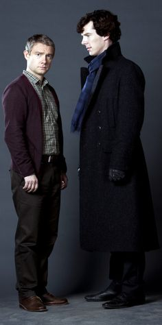 #John & Sherlock Promo... I love how Benedict is looking at Martin, like he's centering him and keeping him still...