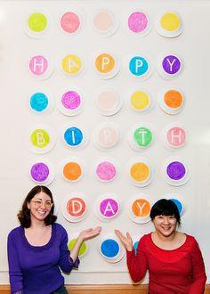 birthday wall!