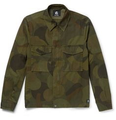 Take a closer look at <a href='http://www.mrporter.com/mens/Designers/PS_By_Paul_Smith'>PS by Paul Smith</a>'s field jacket and you'll see that the graphic camouflage print is made up of simple circles and squares. Made from cotton-twill, it has plenty of pockets and is lined at the sleeves to slip smoothly over shirts and sweaters.