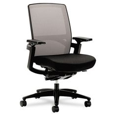 HON - Series Ilira Stretch-Back Work Chair - Black - Black Upholstery - Sam's Club Work Chair, Home Office Chairs, Office Furniture, Ergonomic Office Chair, Tear, Home Organization, Upholstery, Indoor, Home Decor