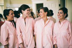 love the bridesmaids shirts. Megan & Kirk | Morton Arboretum Wedding